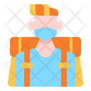 Traveler Traveller Backpacker Icon