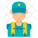 Backpacker Avatar Man Icon