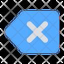 Backspace Close Tag Icon
