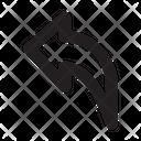 Backward Arrow Back Icon