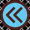 Backward Previous Arrows Icon