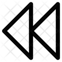 Backward Music Clip Icon