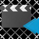 Clapper Backward Clip Icon
