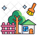 Backyard Cleaning Icon