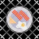 Bacon Breakfast Omelette Icon