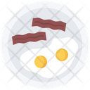 Bacon Fried Egg Icon