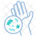 Bacteria Dirty Hand Bacteria In Hand Icon