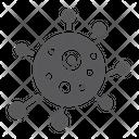 Virus Bacterium Biology Icon