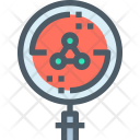 Bacteria Search Research Icon