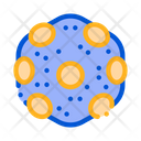 Laboratory Microscopic Bacterium Icon