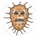 Microorganism Scary Bacteria Scary Virus Icon