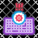 Bacteria On Keyboard Icon