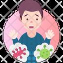 Bacteriophobia Fear Of Bacteria Icon
