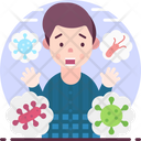 Bacteriophobia Fear Of Bacteria Icon