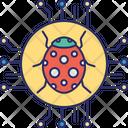 Bacterium Bug Computer Virus Icon