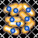 Microscopic Bacterium Sticks Icon