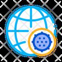 Microscopic Bacterium Planet Icon