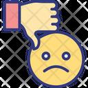 Bad Feedback Customer Review Dislike Icon