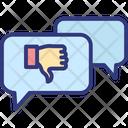 Bad Feedback Customer Review Negative Feedback Icon