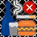 Break Bad Habit Unhealthyfood Bad Icon