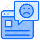 Bad Rating Comment Website Icon