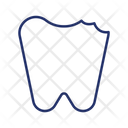 Bad Tooth Tooth Teeth Icon