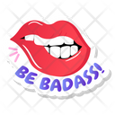 Badass Lips Sticker Icon