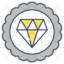 Premium Badge Diamond Icon
