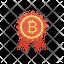 Badge Award Bitcoin Icon