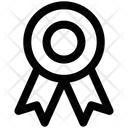 Badge Emblem Badge With Ribbon Icon