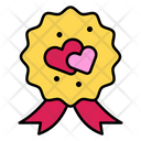 Badge Heart Love Icon