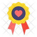 Badge Heart Love And Romance Icon