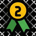 Badge Second Rank Bronze Icon