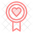 Badge Love Heart Icon