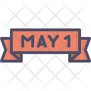 May Day Banner Icon