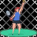 Sport Outdoor Game Badminton Icon