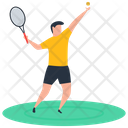 Sport Outdoor Game Badminton Icon