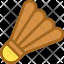 Badminton Birdie Feather Icon