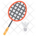 Badminton Shuttlecock Racket Icon