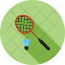 Badminton Racket Shuttlecock Icon