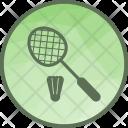 Badminton Racket Shuttlecock Icon