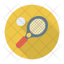 Badminton Racket Ball Icon