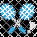 Badmintonm Badminton Game Icon