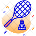 Badminton Play Player Icon