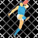 Badminton Player Sportsman Icon