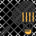 Badminton Shuttlecock Racket Icon