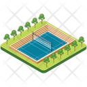 Badminton Ground Icon