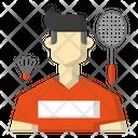 Avatar Badminton Racket Icon