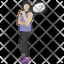 Badminton Player Badminton Racquet Icon