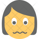 Confounded Face Girl Icon